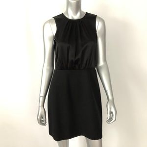 Theory Dress 8 Wool Black Sleeveless Sheath